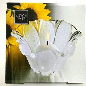 Mikasa Sunflower Frost Candle Holder New